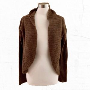 Free People Cozy Brown Mohair Cardigan L